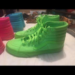 Lime green vans